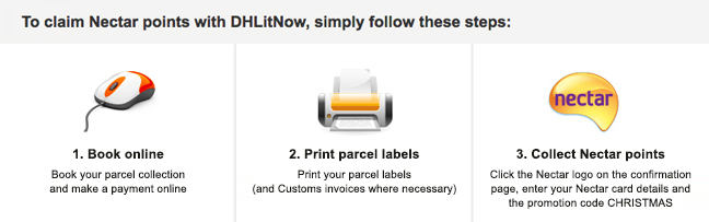 3 Steps to collect Nectar points with DHL