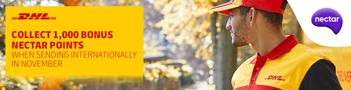 Collect 1,000 Nectar Points when you send internationally with DHL in November