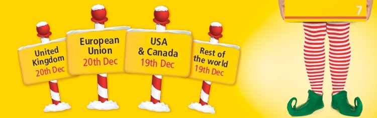DHL's last posting dates run right up to 20th December