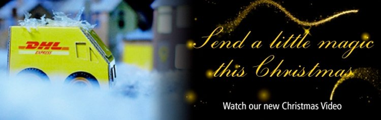 Send a little magic this Christmas with DHL!