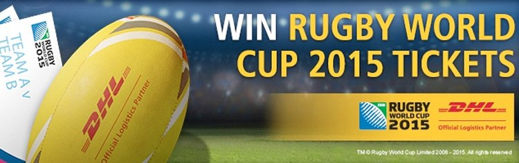Win tickets to Rugby World Cup 2015!