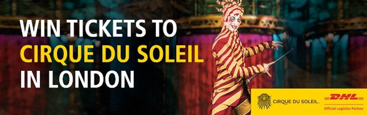 Win tickets to the Cirque du Soleil show in London!