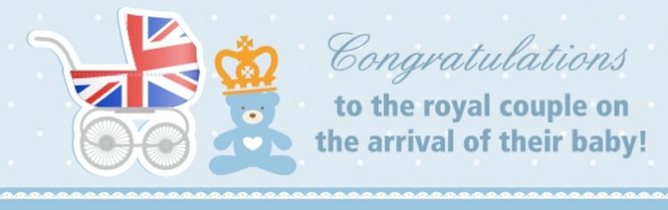 Congrats to the royal couple on the arrival of their baby!