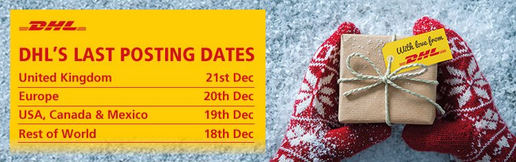 DHL's last posting dates for Christmas 2018