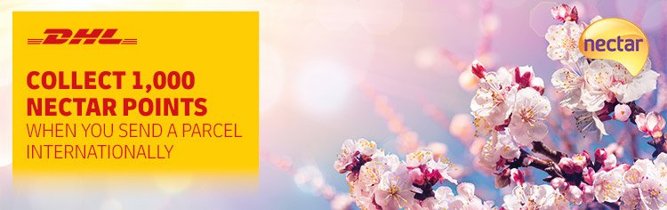 Collect 1,000 bonus Nectar points when sending internationally in April