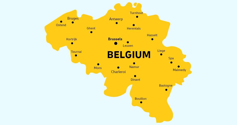 Belgium country map