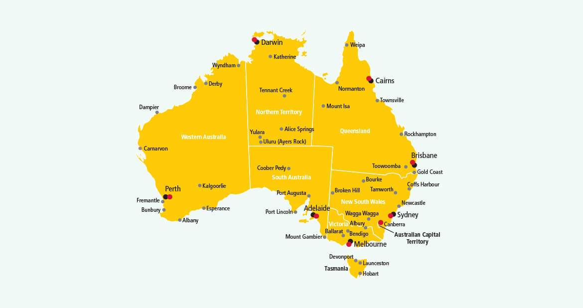 Parcel delivery to Australia with DHL