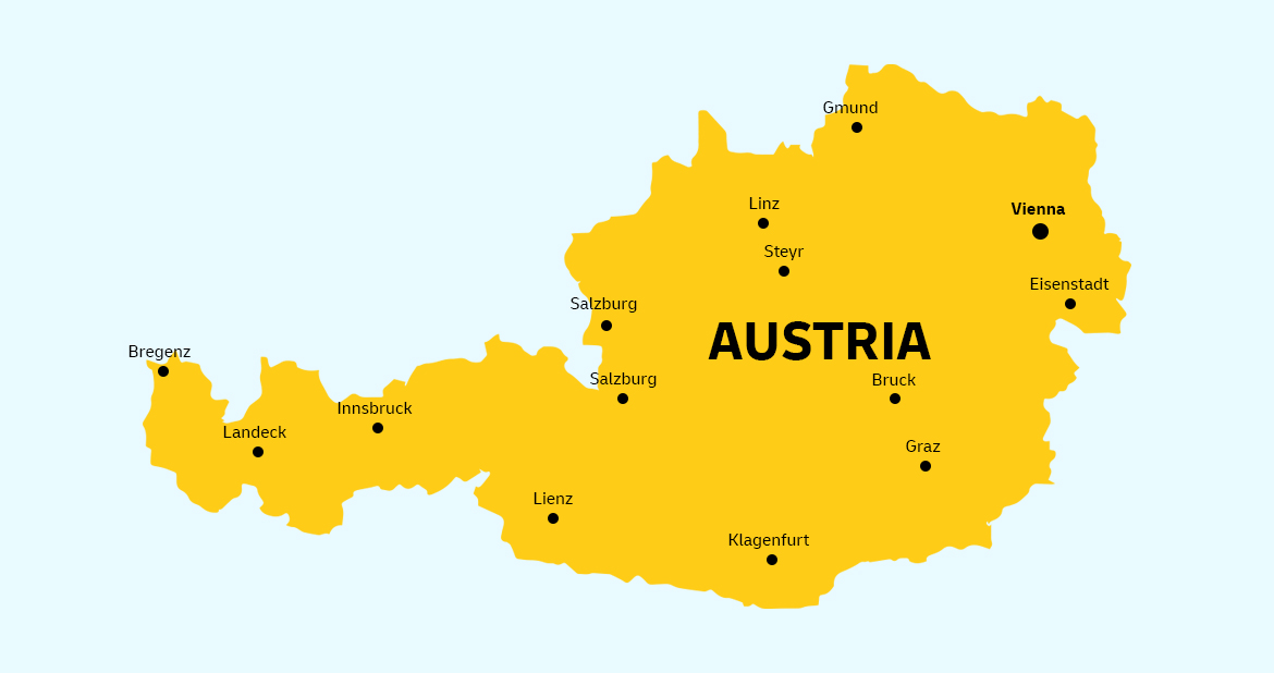 Austria Country Map