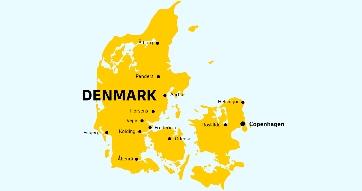 Denmark country map