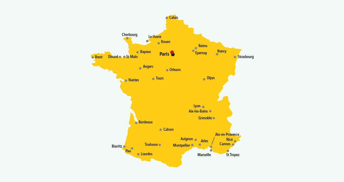 Parcel delivery to France with DHL