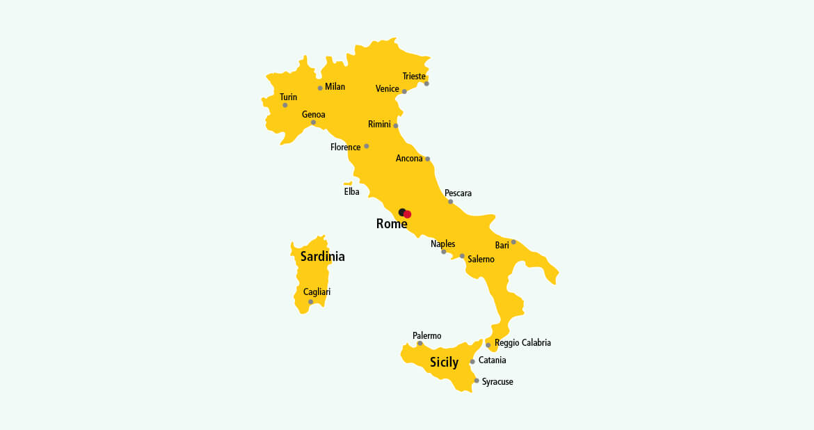 Parcel delivery to Italy with DHL