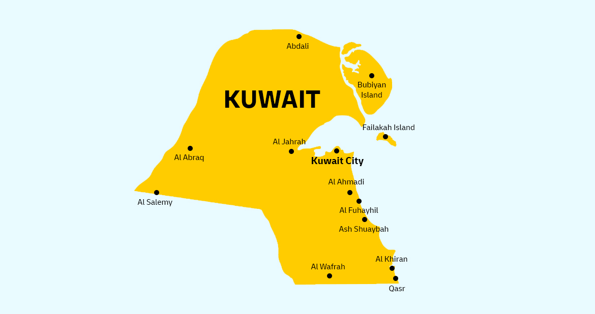 Kuwait country flag