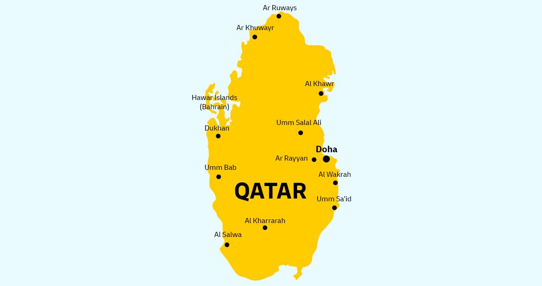Qatar Country Map