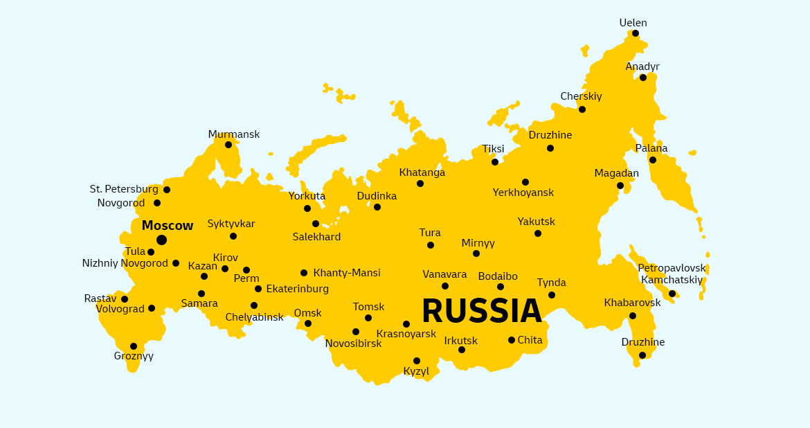 Russia Country Map