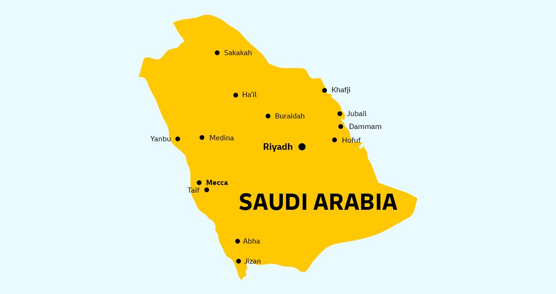 Saudi Arabia Country Map