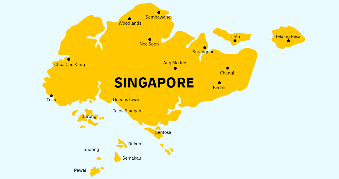 Singapore Country Map