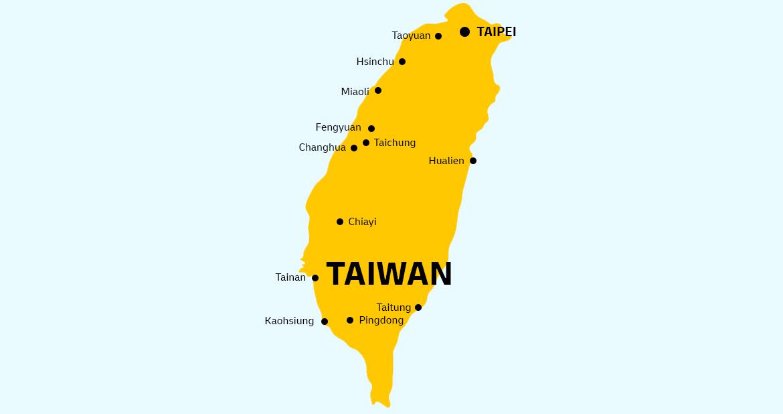 Taiwan country map