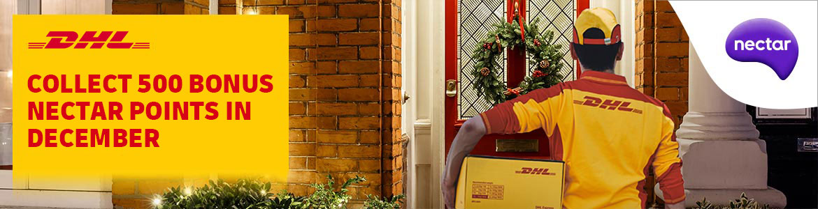Collect 500 Nectar Points when you send internationally with DHL in December