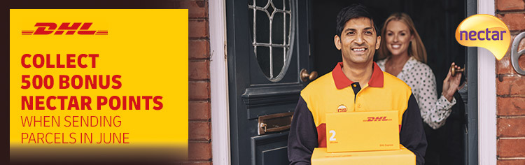 Collect 500 Nectar Points when you send a parcel in June