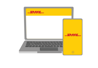 Book a collection online with DHL