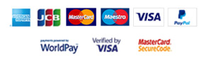 Payment options: American Express, JCB, MasterCard, Maestro, Visa and Paypal